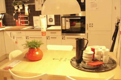 Area de exhibición y demostración en IKEA